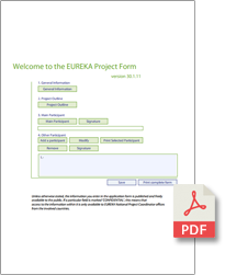 EUREKA-Project-Form