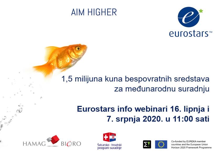Pozivamo vas na info webinare za prijavu Eurostars projekata 16. lipnja i 7. srpnja 2020.