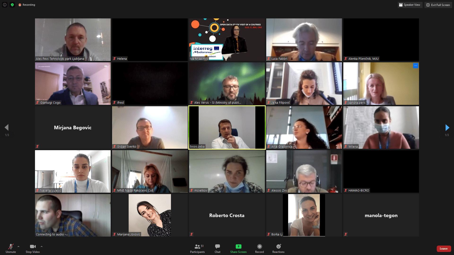 HAMAG-BICRO s partnerima projekta ODEON organizirao online radionicu o upotrebi otvorenih podataka